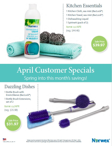 Spring into April savings