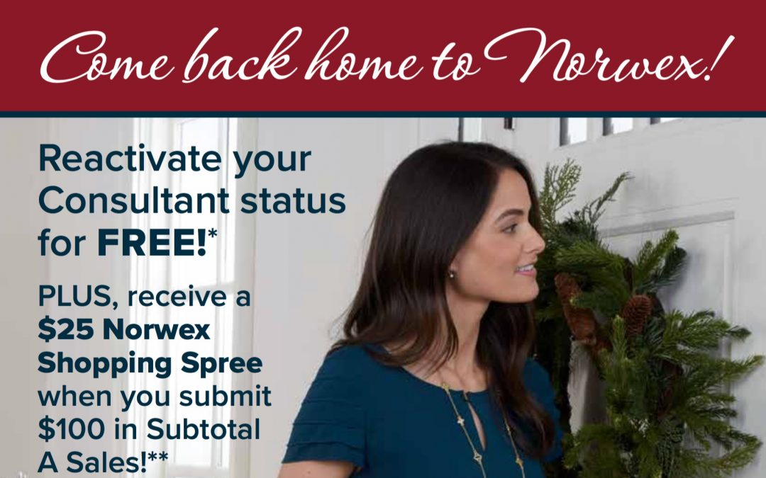 Re-activate with Norwex for FREE until Dec. 1!